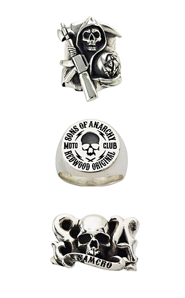 Great Frog Reaper, Signet, and SAMCRO rings ($200-$350)