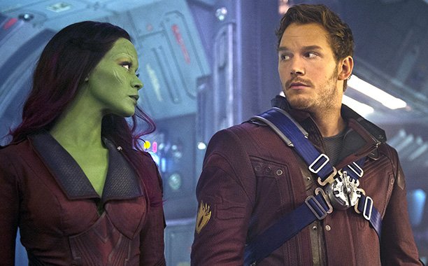 While guarding the galaxy, the out-of-this-world assassin (Zoe Saldana) and the '70s music aficionado (Chris Pratt) set off major sparks—before, during, and even after Gamora…