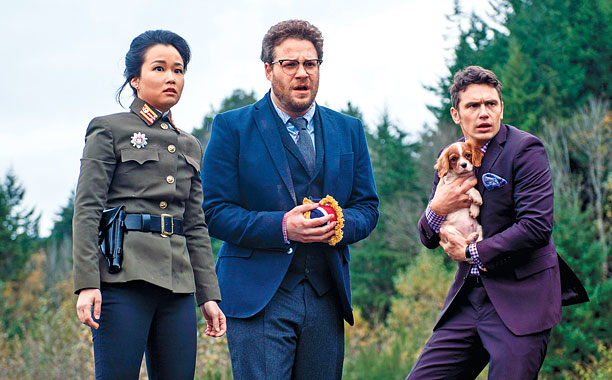 THE INTERVIEW Diana Bang, Seth Rogan, and James Franco