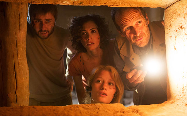 THE PYRAMID Ashley Hinshaw, James Buckley, Denis O'Hare, and Christa-Marie Nicola