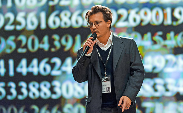 We haven't given up on you, Johnny Depp. But you can do a lot better than this preposterous techno-thriller that felt more like Max Headroom…