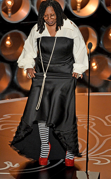 Witch wants her look back! Comedian Whoopi Goldberg meant to honor The Wizard of Oz during the Academy Awards, but her choice of black-and-white striped…