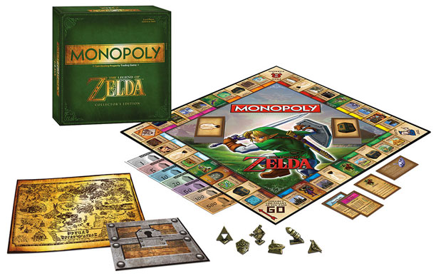 Lo-fi gaming gets some love with a collector's-edition Legend of Zelda Monopoly, featuring ultracool tokens ($40, usaopoly.com ).