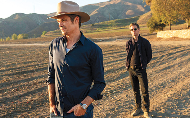 Timothy Olyphant and Jacob Pitts in Justified