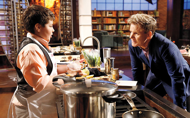 MASTERCHEF JUNIOR Contestant Samuel and Chef Ramsay