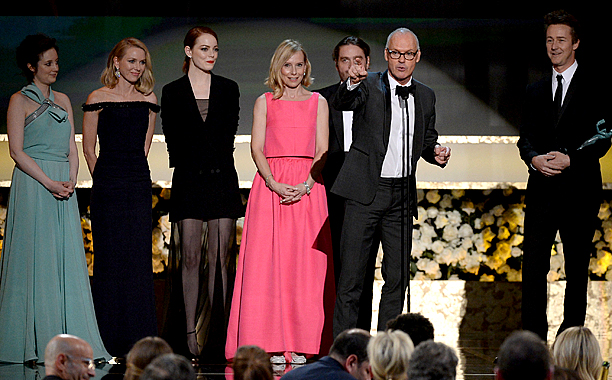 Outstanding Performance by a Film Cast Birdman may have taken home the night's top prize but their speech was a joyous comedy of errors. Edward…