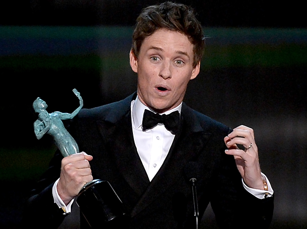Screen Actors Guild Awards 2015 | Outstanding Performance by a Male Actor in a Leading Role, The Theory of Everything Give the winner points for his genuine shock, as well as…