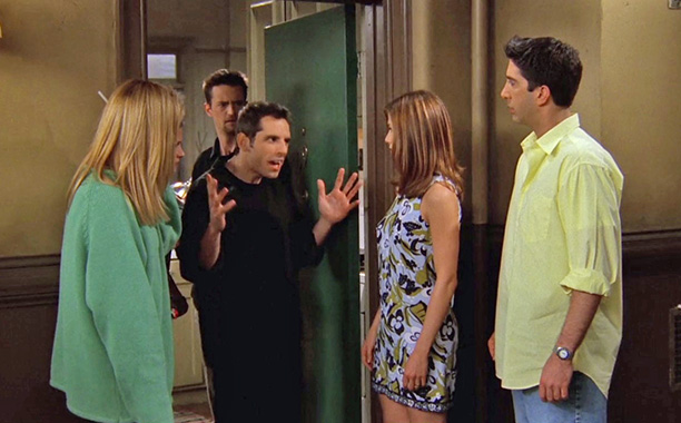 Friends | ''The One with the Screamer'' Ben Stiller guest-stars as Rachel's aggressive boyfriend, yelling his way into a truly grating 22 minutes.