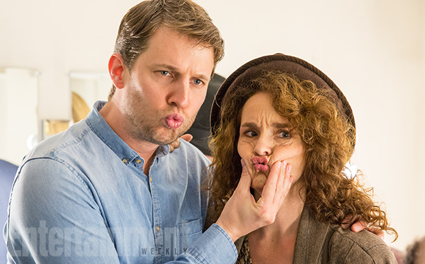 Jon Heder and Diane Franklin