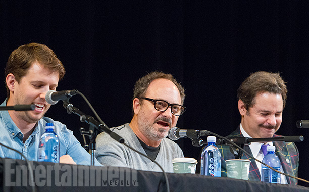 Jon Heder, Kevin Pollak, and Paul F. Tompkins