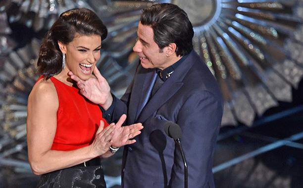 Idina Menzel turns the tables on John Travolta