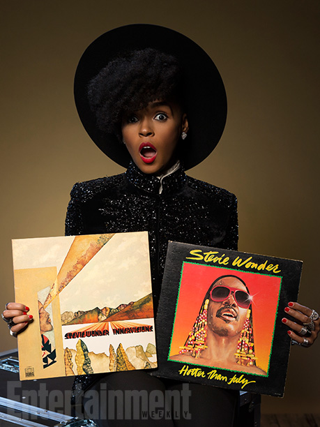 Janelle Monae with 'Innervisions' and 'Hotter Than July'