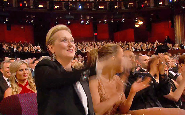 Equal rights earn a standing O from Meryl