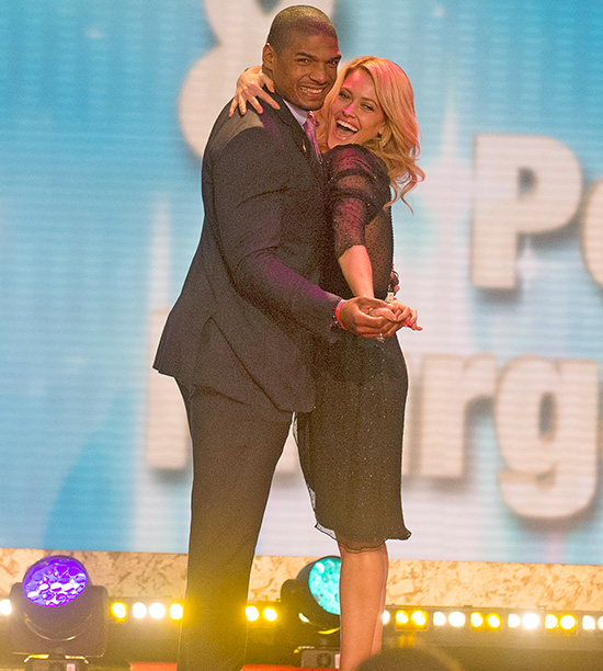 Michael Sam, partnered with Peta Murgatroyd