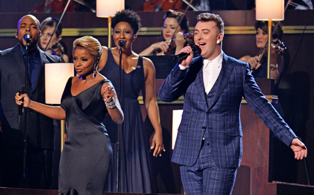 "Sam Smith and Mary J. Blige, ""Stay With Me"""