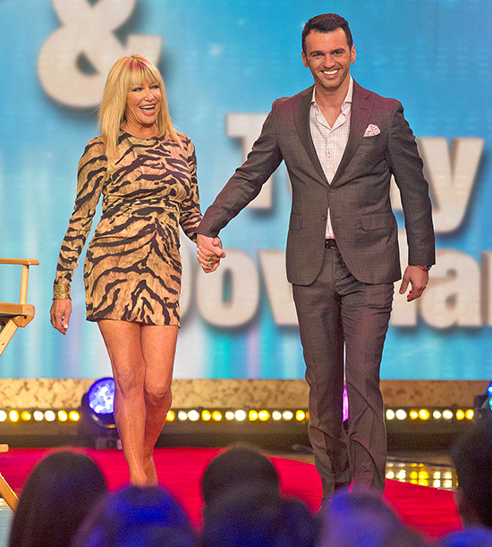 Suzanne Somers, partnered with Tony Dovolani
