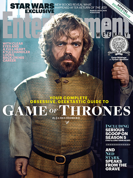 For much more from the set of ''Game of Thrones,'' pick up this week's issue of Entertainment Weekly magazine (with four unique Collector's Covers, each featuring a different character; click through to see them all) on newsstands, or buy it here