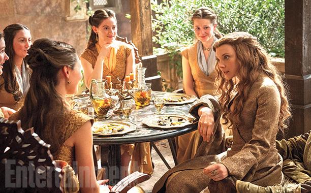 Margaery Tyrell (Natalie Dormer, far right) in King's Landing