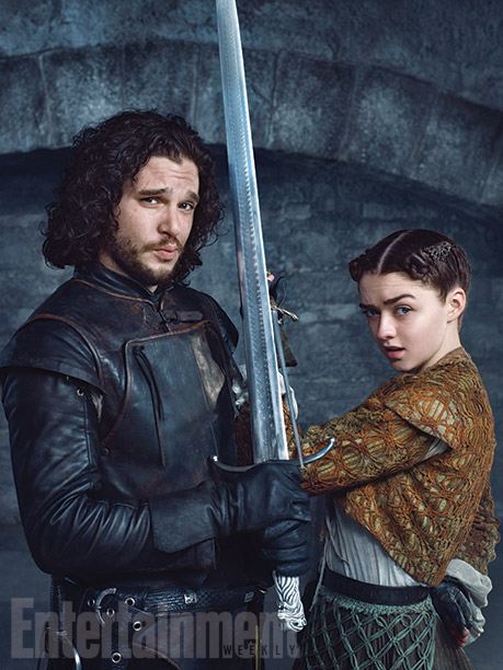 Kit Harington and Maisie Williams