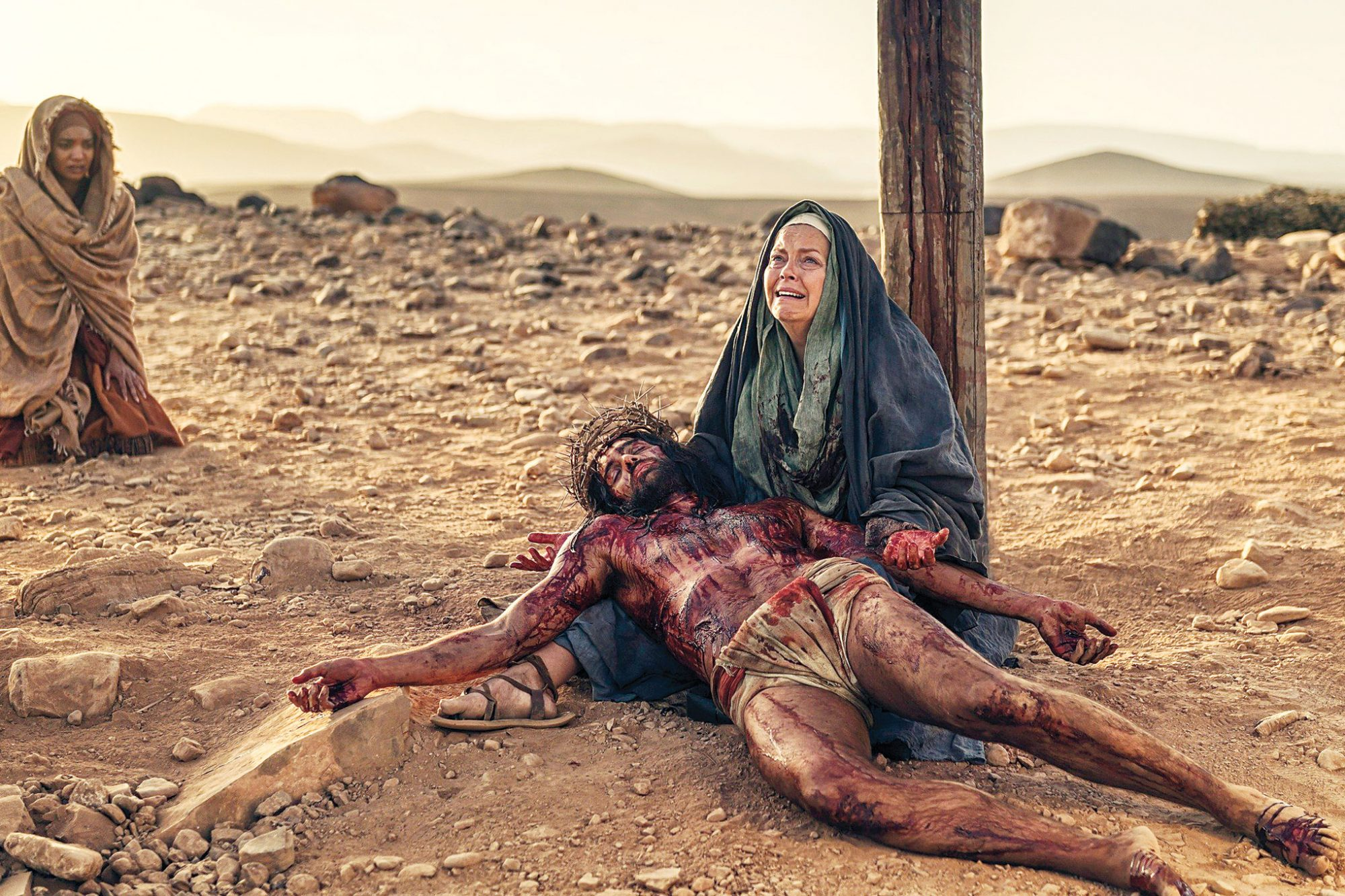 Juan Pablo di Pace and Greta Scacchi in A.D. The Bible Continues