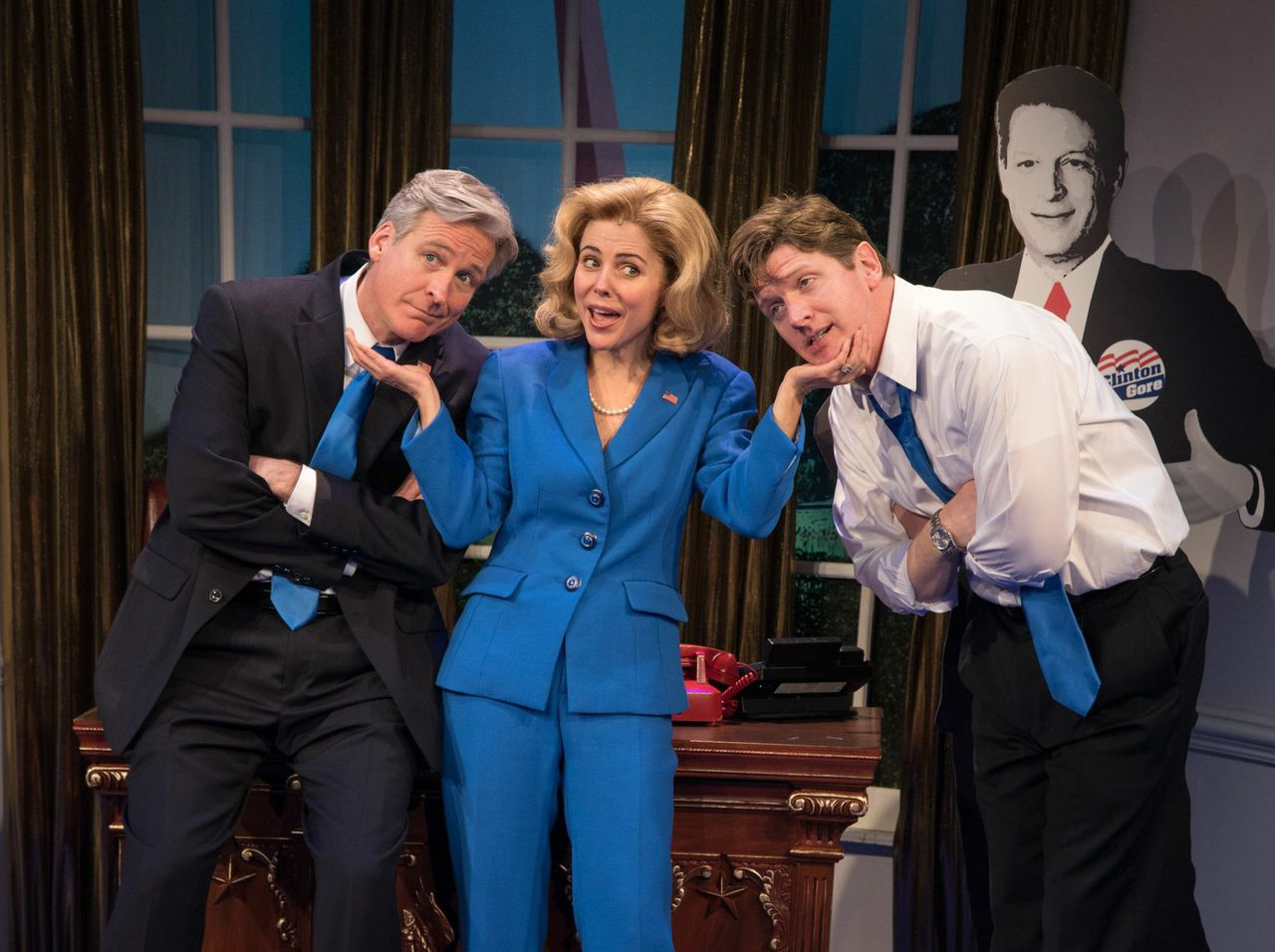 """Clinton the Musical"" Tom Galantich, Kerry Butler and Duke Lafoon"