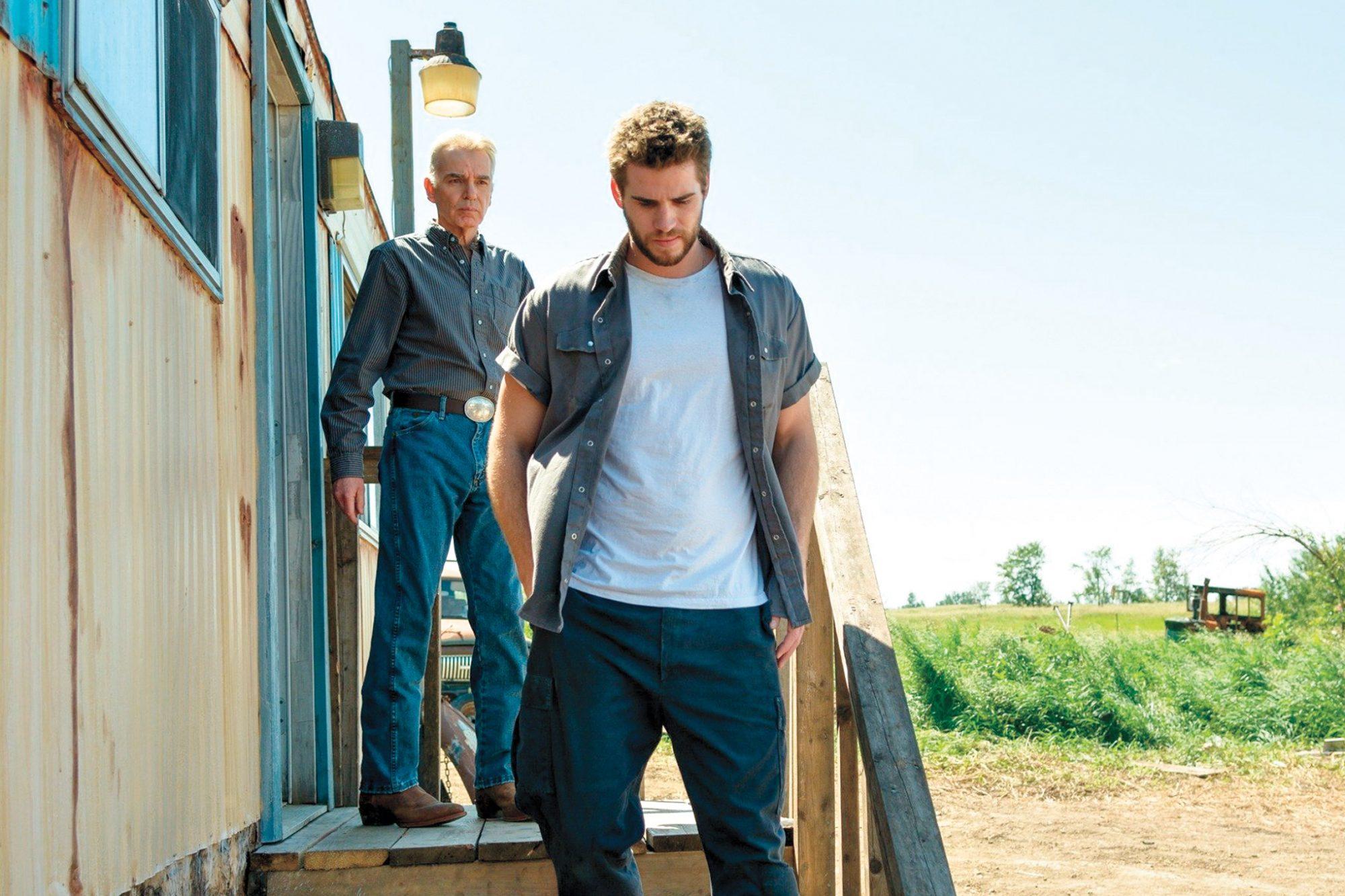 Billy Bob Thornton and Liam Hemsworth in Cut Bank