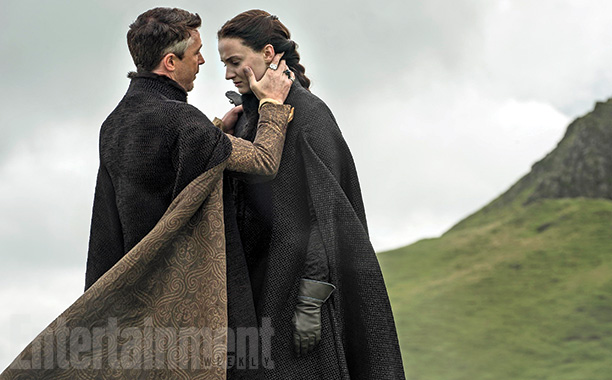 Littlefinger (Aidan Gillen) comforts Sansa (Sophie Turner)