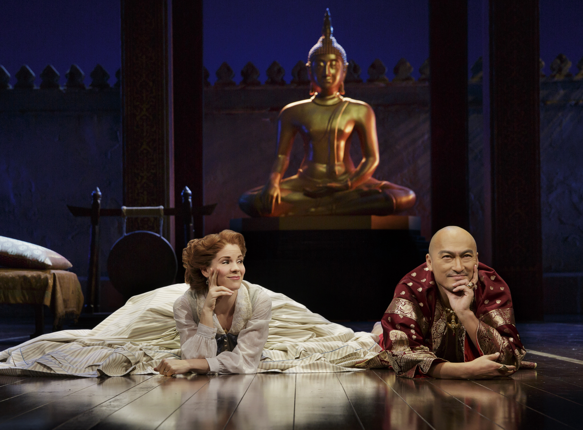 """The King and I"" Kelli O'Hara and Ken Watanabe"
