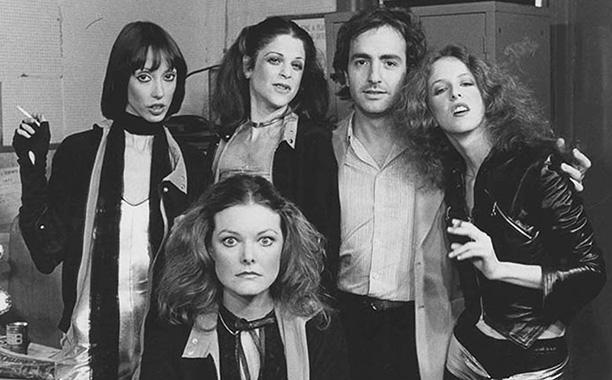 Shelley Duvall, Gilda Radner, Lorne Michaels, Laraine Newman, and Jane Curtin
