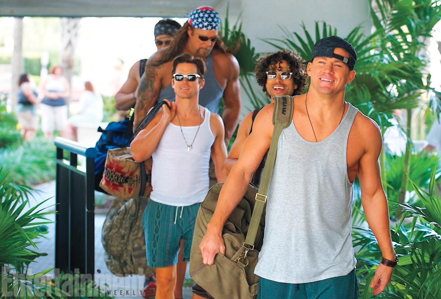Channing Tatum, Adam Rodriguez, Matt Bomer, Kevin Nash, and Joe Manganiello in Magic Mike XXL