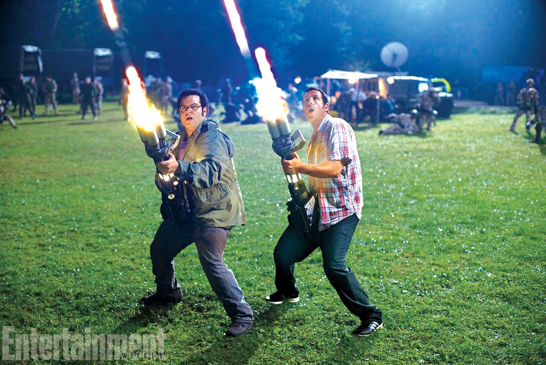 Josh Gad and Adam Sandler in Pixels