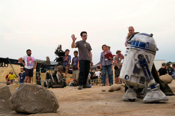 On the set with J.J. Abrams and R2-D2