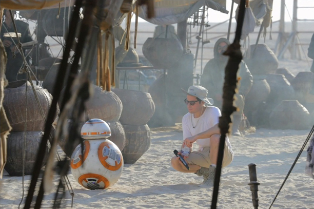 BB-8, the film's new droid, is ready to roll