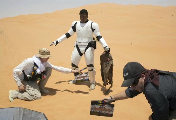John Boyega's stormtrooper in the desert