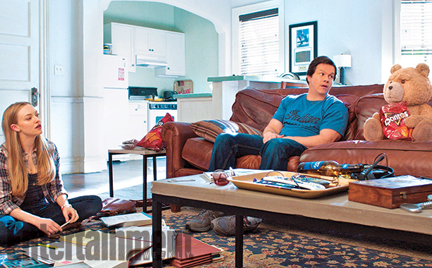 Amanda Seyfried, Mark Walberg, and Seth McFarlene in Ted 2