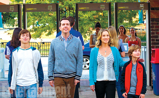 Skyler Gisondo, Christina Applegate, Steele Stebbins, and Ed Helms in Vacation