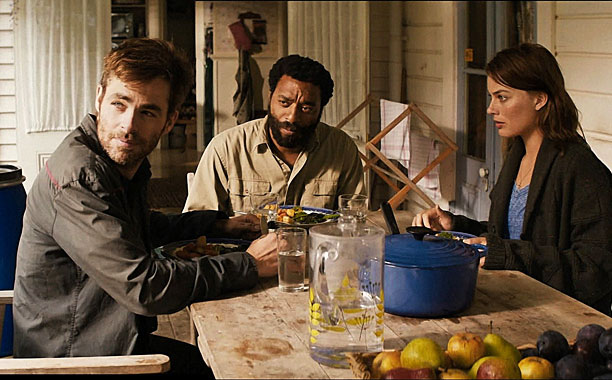 Chris Pine, Chiwetel Ejiofor, and Margot Robbie in Z for Zachariah