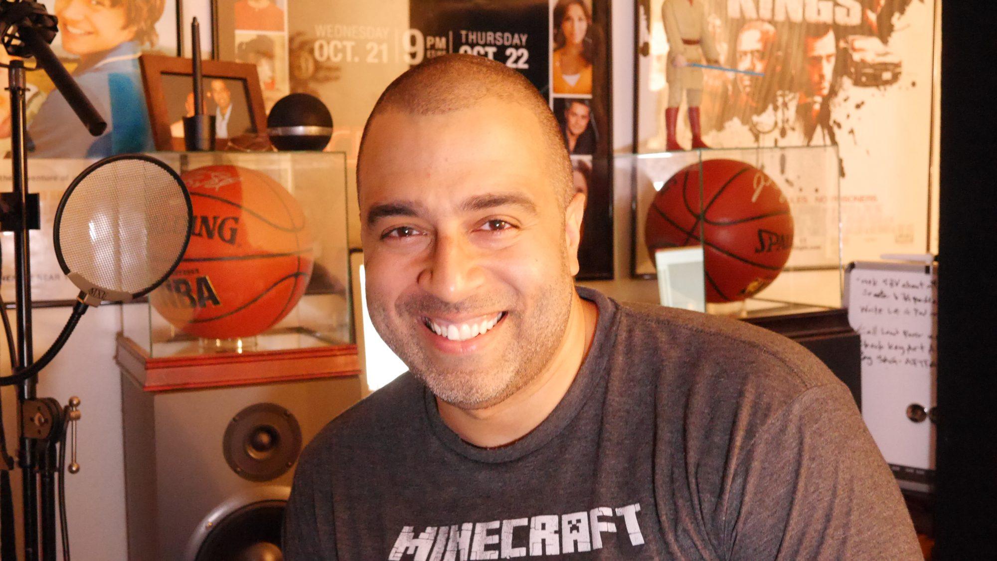 'Jane The Virgin' narrator Anthony Mendez in his home recording studio