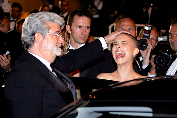 George Lucas and Natalie Portman