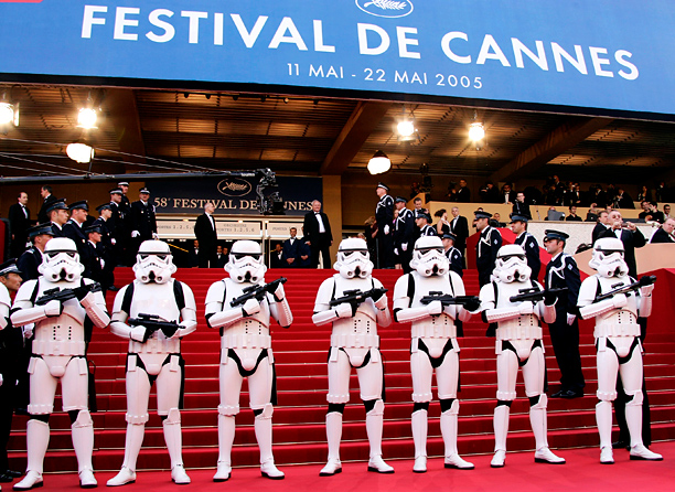 "Stormtroopers at ""Star Wars III: Revenge of the Sith"" screening"