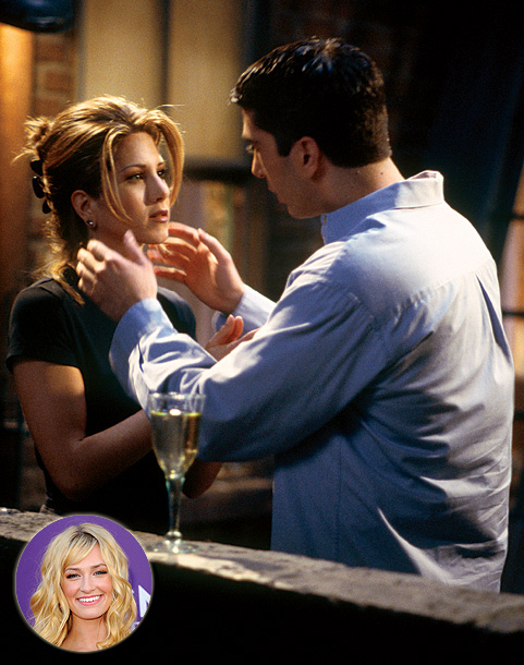 David Schwimmer, Friends, ... | ''That one where Ross and Rachel are at the airport and she misses him. There was still that will-they-won't-they cliffhanger. That's a brilliant TV [relationship].…