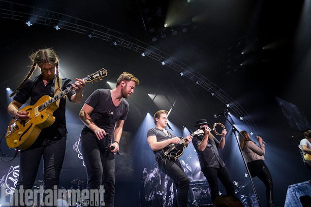 Openers Hunter Hayes and Sam Hunt (not pictured) join the trio during their headlining set