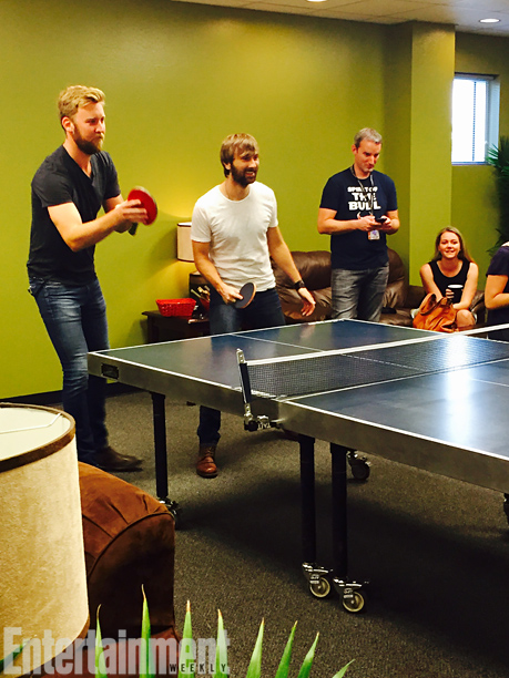 The boys host a nightly ping-pong match