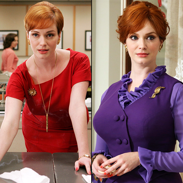 Mad Men | Christina Hendricks: ''In one scene, I am wearing my Scooby-Doo outfit,'' Hendricks says of this purple ensemble, which she says reminds her of Scooby?s pal…