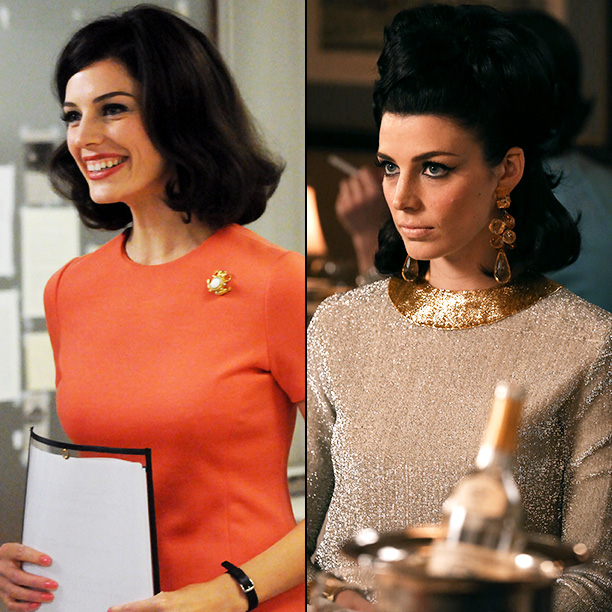 Mad Men | Jessica Pare: Megan's fashion has evolved from...more practical office type looks, but they were still bright and playful. Last year we saw her becoming a…