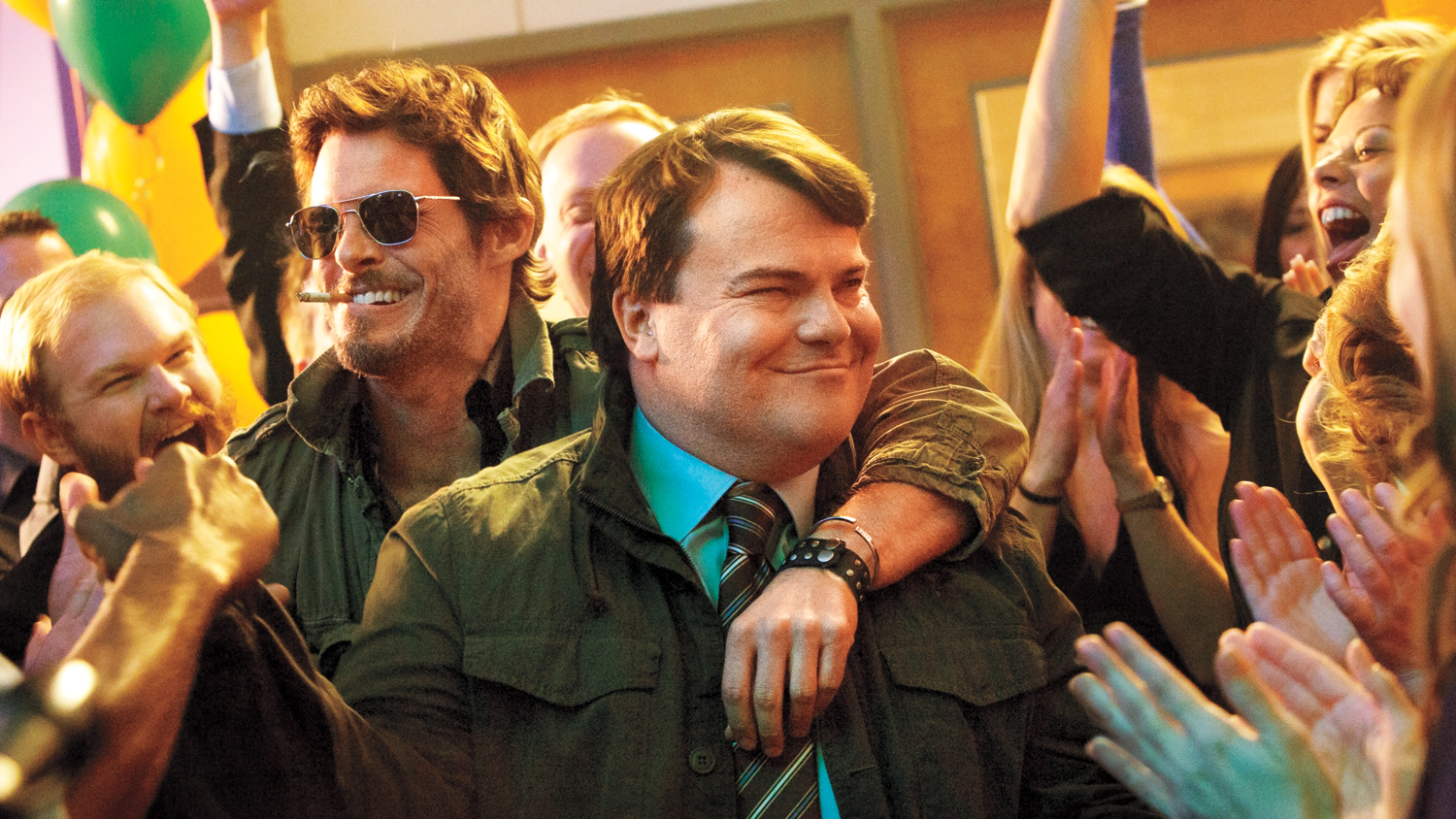 James Marsden and Jack Black in The D Train