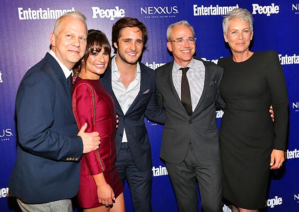 Ryan Murphy, Lea Michele, Diego Boneta, EW/People Editorial Director Jess Cagle, Jamie Lee Curtis