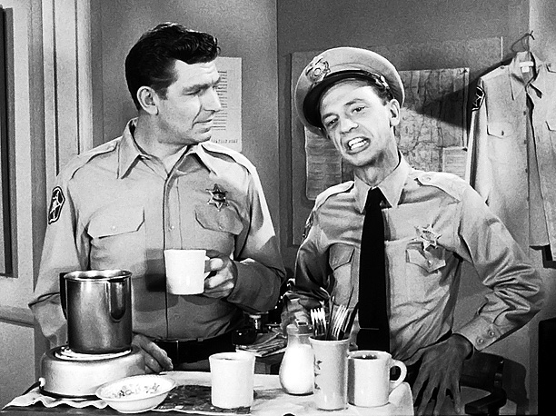 Don Knotts, Andy Griffith, ... | Perhaps TV's first bromance, the Mayberry sheriff and his deputy weren't always an ace crime-fighting team, but Andy's good sense balanced, Barney's dopey goodness, and…