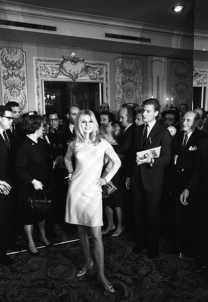 Brigitte Bardot at The Plaza, December 1965