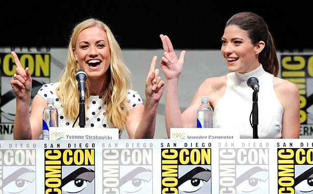 San Diego Comic-Con 2013, Dexter, ... | Yvonne Strahovski and Jennifer Carpenter are all smiles at the Dexter panel